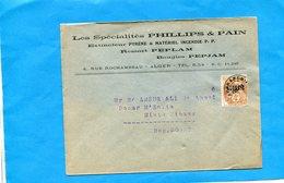 MARCOPHILIE-Algérie Lettre Commerciale .PHILLIPS & PAIN-> Douar M'zaita -afft Préo N°1- 4 C Type Blanc Surch  Algértie - Argelia (1924-1962)