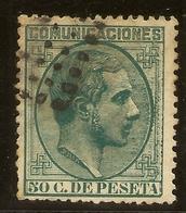 España Edifil 196 (º) 50 Céntimos Verde  Alfonso XII   1878   NL1467 - Usados