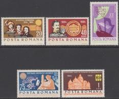 ROUMANIE 1964 5 TP Anniversaires Divers N° 2062 à 2066 Y&T Neuf ** - 1948-.... Republiken