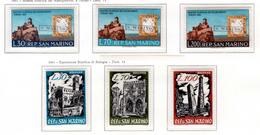 1961 - SAINT-MARIN - SAN MARINO - Catg. Unif. 565/567+569/571 - NH - (SM2017.21...) - Nuevos