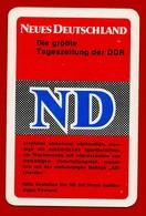 SMALL CALENDAR NEUES DEUTSCHLAND ND 1972 AK104-42 - Calendarios