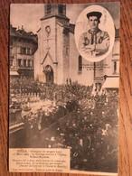 CPA,Tulle, Corrèze,19, Obsèques Du Sergent Lovy,le Cortège Rentrant à L'Eglise St Jean-Baptiste, écrite En 1904, Timbre - Tulle