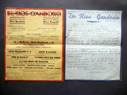 Teatro Avanspettacolo De Rios Gandosio Lettera Autografa Programma Anni '20 - Autografi