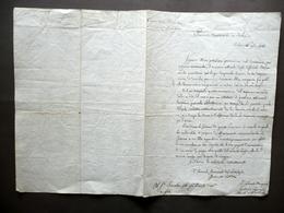 Due Autografi Generale Bianchi D'Adda Marchese Paolucci Lettera Milano 1814 - Autografi