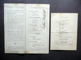 Autografo Wilhelm Backhaus Pianista Firma Programma Concerto Teatro Nuovo 1948 - Autografi