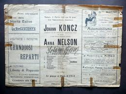 Autografo Johann Koncz Firma Programma Concerto 1924 R. Politeama Giacosa Napoli - Autografi