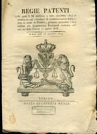 Regno Di Sardegna Decreto 1819 Pagine 8 Creditori Somministrazioni Militari - Decreti & Leggi