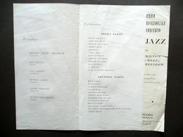 Programma Concerto Jazz Di Milton Mezz Mezzrow Teatro Nuovo Anni '50 Musica - Non Classificati