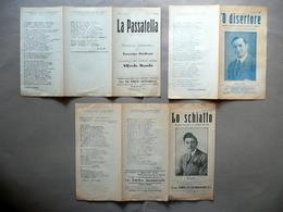 Tre Monologhi Amerigo Giuliani Alfredo Bambi Trusiano Dialetto Napoli 1917 - Vecchi Documenti