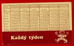SMALL CALENDAR SAZKA SPORTKA KAZDY TYDEN 1975 AK104-47 - Calendarios