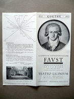 Programma Teatro Licinium Erba Brianza Milano Faust Goethe 1932 Spettacolo - Non Classificati