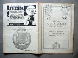 Programma Teatro Adriano Roma Concerto Igor Soulima Strawinsky Pianoforte 1938 - Vecchi Documenti