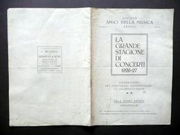 Libretto Amici Della Musica Napoli Concerti 1926-27 Artisti Biografie Musica - Vecchi Documenti