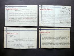 Operette Enrico Dezan 4 Lettere Programmi Proposte Teatro Storchi Modena 1934-38 - Vecchi Documenti