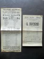 Teatro Storchi Modena Due Locandine Santarellina Il Duchino Operette 1914-1917 - Old Paper