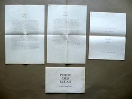 Porte De Lilas Un Film Di René Clair Filmsonor Paris Presentazione Sinossi - Vecchi Documenti