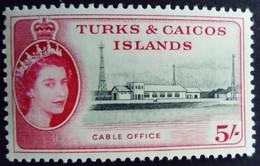 Turks Et Caicos 1957 Télégraphe Cable Office Yvert 175 ** MNH - Turks E Caicos