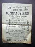 Foglio Volante Olympia Sul Mare Bagno Castello Dell'Ovo Apertura Estiva '900 - Vecchi Documenti