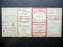 Programma Serale Teatro Storchi Modena Compagnia Comica Galli Giusti Primo '900 - Vecchi Documenti