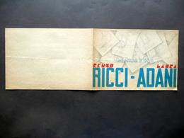 Programma Compagnia Di Prosa Enzo Ricci Laura Adani Autori Interpreti Anni '30 - Vecchi Documenti