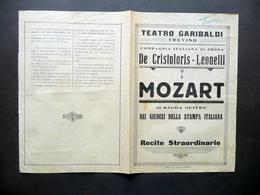Teatro Garibaldi Treviso Compagnia De Cristoforis Leonelli Mozart Sacha Guitry - Vecchi Documenti