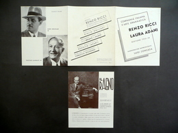 Pieghevole Compagnia Renzo Ricci Laura Adani 1935-36 Volantino Il Ragno Benelli - Vecchi Documenti