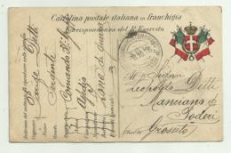 REGIO ESERCITO 1916 SPEDITA DA UN SERGENTE CON SUA  FOTO  RETRO - Guerra 1914-18