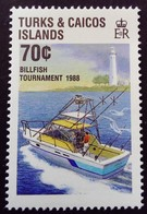 Turks Et Caicos 1988 Bateau Boat Pêche Fishing Yvert 794 ** MNH - Turks E Caicos