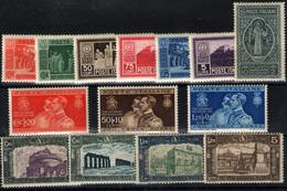 Italia Nº 254/7, 244/50, 251/3. Año 1929/30 - 1900-44 Victor Emmanuel III