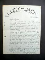 Lettera Lucy And Jack Danza Acrobatica Budapest Presentazione Spettacolo 1939 - Non Classificati