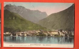 TSN-25 Saint-Gingolph  Lac Léman Circulé 1909  Vers France. - VS Wallis