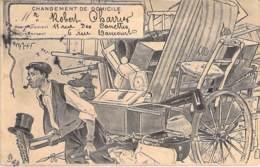 HUMOUR - CHANGEMENT DE DOMICILE : Avis De Déménagement - CPA Sépia 1906 - - Humour