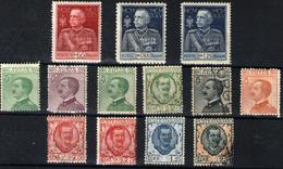 Italia Nº 178/85, 175/77. Año 1925/27 - 1900-44 Victor Emmanuel III.