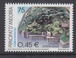 Europa Cept 2001 Andorra Sp. 1v ** Mnh (43471A) - 2001