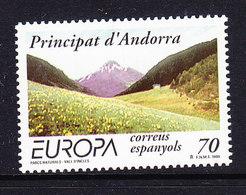 Europa Cept 1999 Andorra Sp. 1v ** Mnh (43471B) - 1999