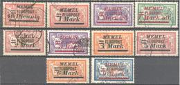 Memel: Yvert N° A 20/29°;  Cote 70.00€ - Memel (1920-1924)