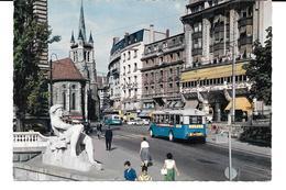 Cpsm Lausanne - L'Avenue Du Théâtre Et L'Eglise Saint-François . - VD Vaud