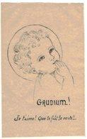 CELLULOÏD MINCE GAUDIUM JE T'AIME QUE TE FAIT LE RESTE IMAGE PIEUSE RELIGIEUSE  HOLY CARD SANTINI HEILIG PRENTJE - Andachtsbilder