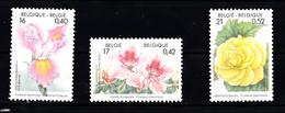Belgie 2000 Mi Nr  2954 - 2956 Bloemen, Flowers, Iris, Rhododendron, Begonia - Ongebruikt