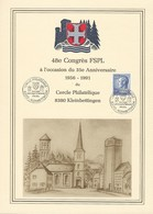 16.3.1991  -  CERCLE PHILATLÉTIQUE KLEINBETTINGEN  48e CONGRES FSPL A L'OCCASION DU 35 ANNIVERSAIRE 1956-1991 - Luxembourg