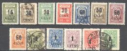 Memel: Yvert N° 156/168°;  Cote 195.00€ - Memel (Klaïpeda)