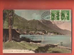TSN-32  Le Bouveret Lac Léman, Voiliers. Fils De TEll En Affranchissement Frontal. 1914 Jullien 7042 - VS Wallis