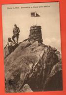 TSN-35 RARE Dents Du Midi Au-dessus De Champéry.Couple Alpinistes Sommet Haute Cime. Point Géodésie.Circulé Vers Morgins - VS Valais