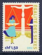 1.- UNITED NATIONS 2019 GENEVA OFFICE - Definitives Stamps - Gender Equality - Ginebra - Oficina De Las Naciones Unidas