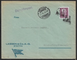 1933 DR  SEEPOST - DAMPFERPOST - Stpl DAMPFERPOST STETTIN Nach HELSINGSFOR - Briefe U. Dokumente
