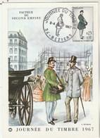France Carte Maximum  Yvert 1516 Journée Du Timbre Béziers Hérault 8/4/1967 - Cartes-Maximum