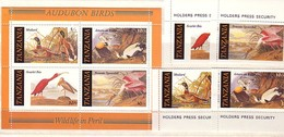 1986 TANZANIA  Fauna - BIRDS   4 V+ S/S - MNH - Pájaros