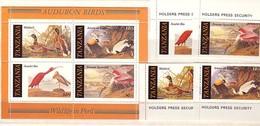 1986 TANZANIA  Fauna - BIRDS   4 V+ S/S - MNH - Tanzania (1964-...)