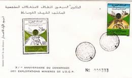 Maroc 1er Jour FDC YT 1099 Exploitation Minière OCP Agadir 28/03/91 - Maroc (1956-...)
