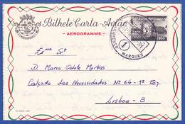 Mozambique, Aerogramme/ Bilhete Carta Avião - From Ship Nampula  To Lisbon / Postmark - LOURENÇO MARQUES 1, 1958 - Mozambique